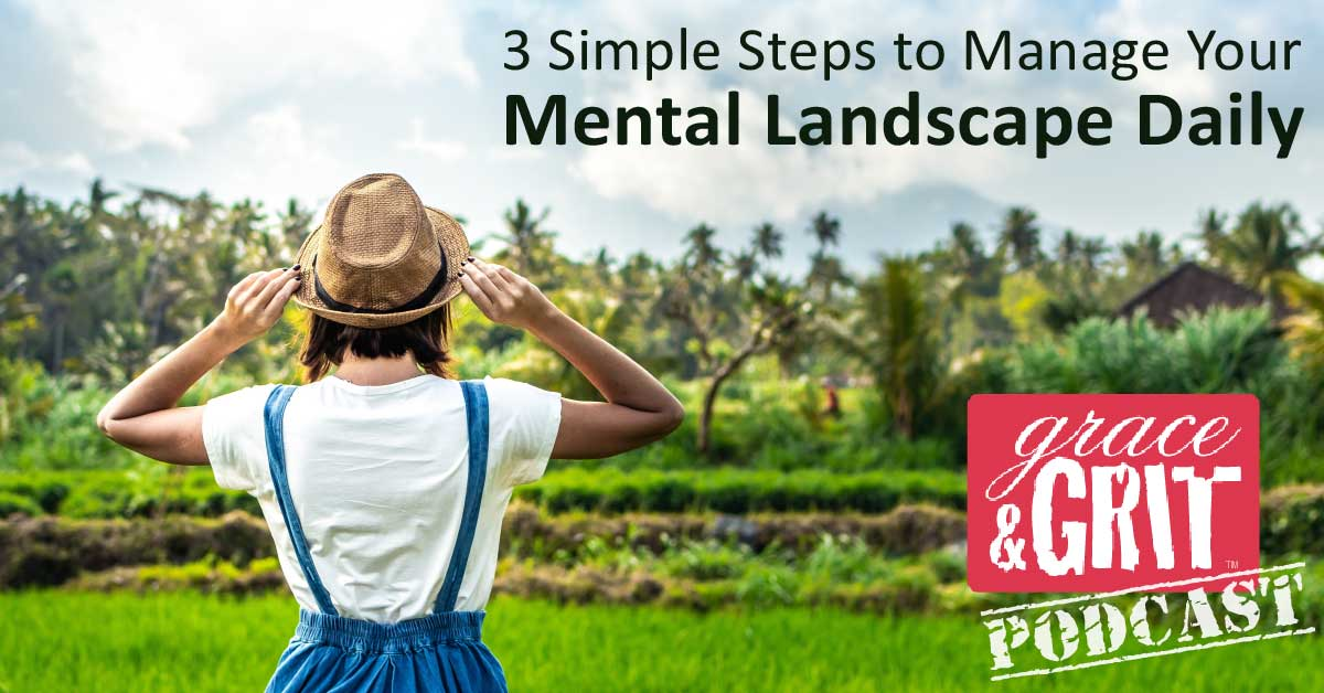 168: 3 Simple Steps to Manage Your Mental Landscape Daily