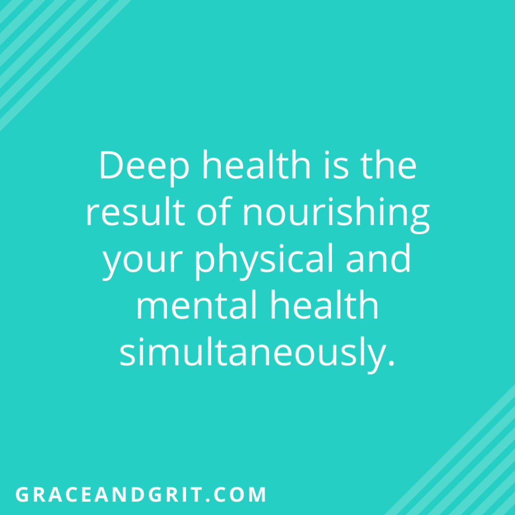True health is the result of nourishing physical and psychological health, SIMULTANEOUSLY.⁣