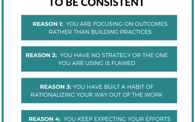4 Reasons You Struggle To Be Consistent
