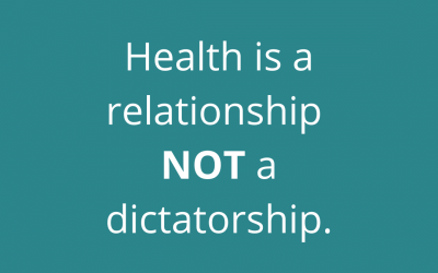 Are you listening or dictating to your body?