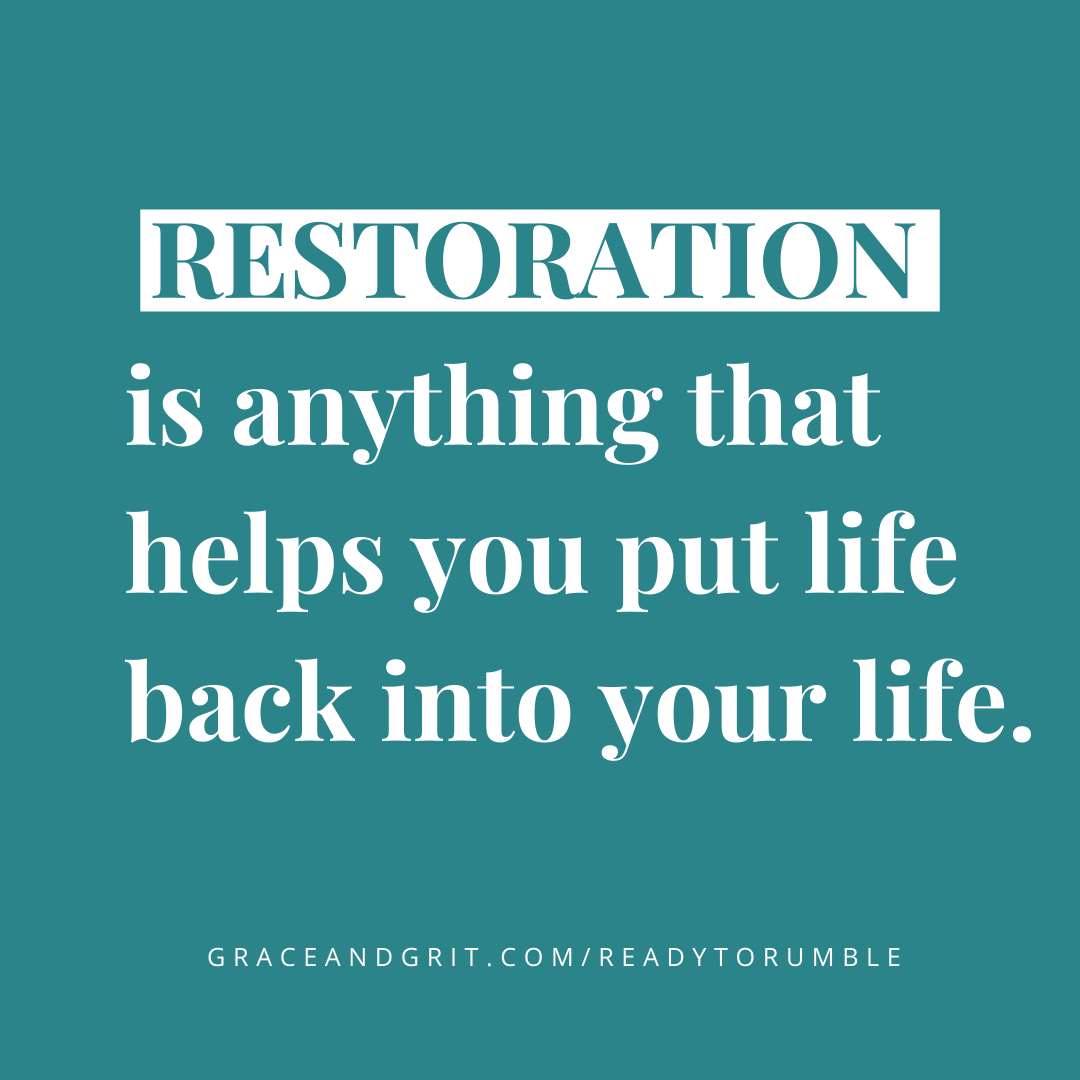 Restoration does not just look like sleep.